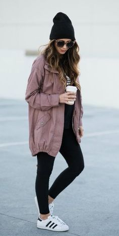 #winter #outfits purple jacket