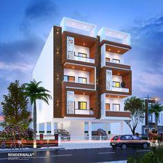 Bungalow Haus Design, Duplex House Design, Modern Bungalow, House Front Design, Building Elevation, House Elevation, Dream House Exterior, Bungalow Exterior, Le Riad