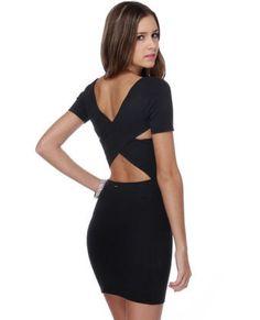 RVCA Phenomena Dress - Black Dress - Body-Con Dress - $64.00