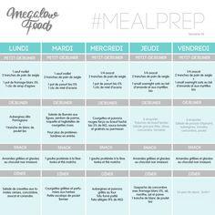 5 jours de menu IG bas & sans sucre – Perte de poids – Megalow Food Overnight Oats Chia, Menu Ig Bas, Sixpack Training, Batch Cooking, Food Menu, Food Hacks, Meal Planning, Meal Prep, Prepping