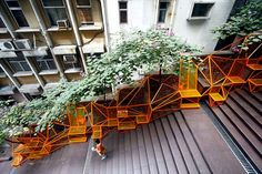 The Cascade Project Transforms Disused Staircase into Inspiring Urban Space for Hong Kong Residents – Inhabitat - Sustainable Design Innovation, Eco Architecture, Green Building Landscape And Urbanism, Urban Landscape, Landscape Design, Architecture Design, Plans Architecture, Architecture Diagrams, Architecture Portfolio, Hong Kong Architecture, Public Architecture