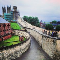 The Lincoln Castle south wall is now free for the public to walk along, for the first time in 100 years!