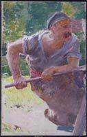 """Study for """"The Smiths"""": Left-hand Figure, c. Blair Bruce Canadian, 1859 - 1906 oil on canvas 45 x cm Purchased 1986 National Gallery of Canada (no. Art Inuit, National Gallery, Movember, Canada, True North, Gauche, Will Smith, Impressionism, Les Oeuvres"""