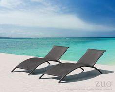 Zuo Biarritz Chaise Lounge Espresso