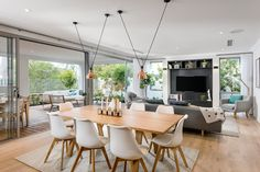 Modern two-story house – Simple and elegant design for a minimalist construction - All For Home İdeas Kitchen Living, Home Living Room, Living Room Decor, Dining Room Design, Kitchen Design, Open Plan Kitchen, Elegant Homes, Home Interior Design, Kitchen Interior