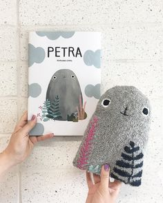I finished my punch needle stuffed animal just in time for my friend Petra's baby shower today. The book is about a pebble (The name… Punch Art, Punch Punch, Paper Punch, Punch Needle Patterns, Textiles, Diy Pillows, Rug Hooking, Book Crafts, Diy For Kids