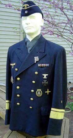 Kriegsmarine Konteradmiral Rolf Johannesson's Blue uniform