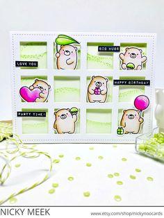 Bitty Bears - MFT Stamps. Card by Nicky Noo Cards #nickynoocards