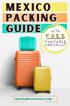 Ultimate Packing List, Packing List For Travel, Travel Checklist, Travel Essentials, Packing Lists, Travel Guides, Travel Tips, Travel Destinations, Mexico Travel