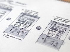 UI sketch/wireframe