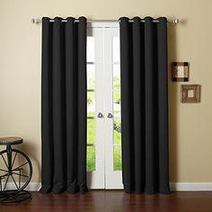 "Best Home Fashion Thermal Insulated Blackout Curtains - Antique Bronze Grommet  Top - Black - 52""W x 90""L - (Set of 2 Panels), http://www.amazon.com/dp/B00HJG6HLO/ref=cm_sw_r_pi_awdm_x_PI7PxbM43PDPE"