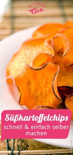 Süßkartoffelchips schnell & einfach selber machen