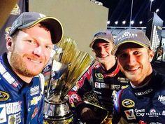 Dale Earnhardt Jr, Jeff Gordon and Kasey Kahne