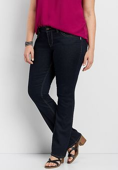 1921cff54ab plus size Silver Jeans Co.® Suki dark wash slim boot jean | maurices