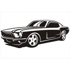 Ford Mustang Car Silhouette