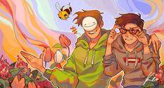 Red-Green colorblind glasses Dream Team, Vaporwave, Dream Friends, Minecraft Fan Art, Minecraft Stuff, Fanart, Just Dream, Dream Art, Kawaii