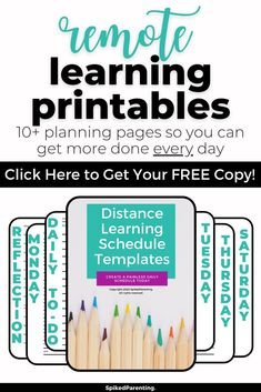 Distance learning is new to most of us...but it doesn't have to be difficult. All you need is a simple plan to keep everyone on track. This distance learning planner will help you organize your day so your kids succeed and you can get more done. Grab this amazing distance learning printable today! Time Management Techniques, Time Management Tools, Time Management Strategies, Business Tips, Online Business, A Simple Plan, Schedule Templates, Tips Online, Productivity Hacks