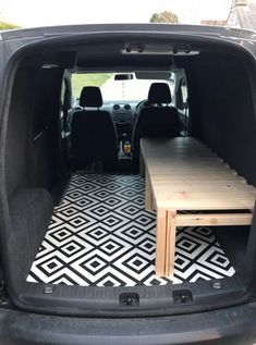 VW Caddy with sliding slat bed/bench! So chuffed with it VW Caddy with sliding slat bed/bench! So chuffed with it Tiny Camper, Popup Camper, Truck Camper, Camper Trailers, Camper Life, Ford Transit Connect Camper, Suv Camping, Camping Oven, Campervan Bed