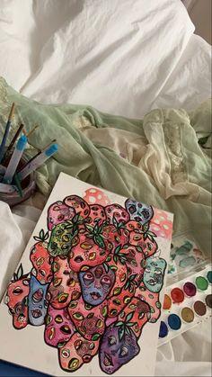 @brookepaigem Indie Kunst, Arte Indie, Indie Art, Pretty Art, Cute Art, Arte Sketchbook, Funky Art, Art Hoe, Art Drawings Sketches