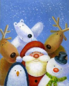 Album 2 « Gallery 12 « Christmas (by category) « Jan Pashley – Illustration / Design Christmas Scenes, Christmas Pictures, Christmas Art, All Things Christmas, Vintage Christmas, Christmas Holidays, Christmas Decorations, Christmas Ornaments, Illustration Noel