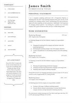 A Professional Cv Template  #cvtemplate #professional #template