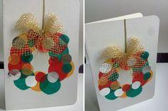 Biglietti di auguri di Natale fai da te in carta riciclata, per personalizzare i vostri auguri natalizi. December Daily, Christmas Time, Advent Calendar, Christmas Stockings, Greeting Cards, Holiday Decor, Home Decor, Google, Art