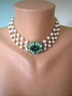 J'aime...!Bijoux art déco, grand Gatsby bijoux, mariée collier de perles, instruction, collier mariage, bijoux de mariée Vintage, bijoux de mariage en Perle on Etsy, 92,48$ CAD