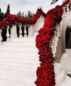 Wedding Goals, Wedding Themes, Wedding Venues, Wedding Day, Wedding Dresses, Floral Wedding, Wedding Flowers, Wedding Bride, Red Wedding Decorations