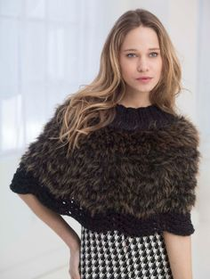 Feel absolutely luxurious in this knit poncho made with Pelt® and Heartland.