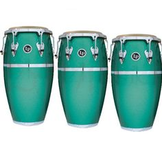 LP Green Matador Fiberglass Conga Drums - LP Matador Green Fiberglass Congas with Chrome are ideal for the working musician who needs professional sound and quality at a moderate price level.