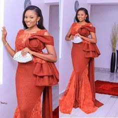 2019 Super Gorgeous Asoebi Styles for Pretty Ladies - Naija's Daily Aso Ebi Lace Styles, Lace Gown Styles, Ankara Gown Styles, African Fashion Ankara, Latest African Fashion Dresses, African Print Fashion, Africa Fashion, Bride Reception Dresses, African Lace Dresses