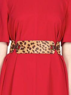 Lanvin - Leopard-Print Leather Belt