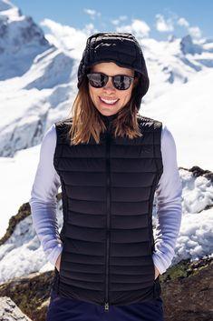 Kjus Macuna Insulation Womens Ski Bodywarmer Vest in Black Ski Wear, Perfect Body, Insulation, Skiing, Womens Ski, Layers, Winter Jackets, Vest, White Stone