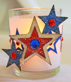 Cricut 4th of July votive