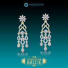 Majestic and grand, crafted with love, these Diamond earrings are luminous like the heart of a bride on her wedding day.  #Diamonds #Earrings #Twinkle #MillionStars #Stars #Eternal #NightSky #Beautiful #Gift #GiftForOccassion #BridalWear #Bride #Shimerring  #Bollywood #Fashion #Style #Beauty