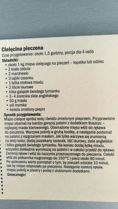 Cielęcina pieczona Personalized Items, Food, Meal, Essen, Hoods, Meals, Eten