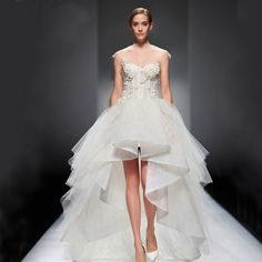 Find More Wedding Dresses Information about 2015 New Design Wedding Dresses Short In Front And Long In Back Sweetheart Sheer Neck Custom Made High Low Bridal Gowns ,High Quality wedding dresses jewelry,China dress beach wedding Suppliers, Cheap dress front from SuZhou Louise Trading Co.,LTD on Aliexpress.com