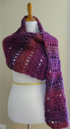 Free Crochet Pattern Mulberry Shawl
