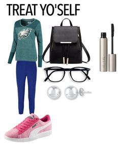 """""""Treat Yoself"""" by megan1ha on Polyvore featuring Lanvin, Touch by Alyssa Milano, Puma and Ilia"""
