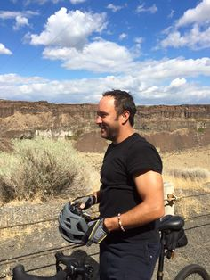 Dave at The Gorge today (9/5/15) on his bike!!