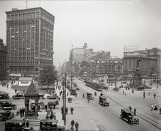 Detroit, Michigan, year 1917.Woodward Avenue, Detroit, MI. Detroit art print, Detroit photography . by Chromatone on Etsy https://www.etsy.com/listing/126984703/detroit-michigan-year-1917woodward