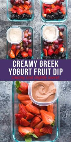 Creamy greek yogurt fruit dip makes you feel like you're indulging in something decadent, but is made with good for you ingredients! Creamy, slightly sweet, and perfect for dunking your favorite fruit. 3 flavors: chocolate, key lime and almond butter. #sweetpeasandsaffron #yogurt #fruit #fruitdip Healthy Chips, Good Healthy Snacks, Healthy Salad Recipes, Dip Recipes, Easy Dinner Recipes, Summer Recipes, Snack Recipes, Dessert Recipes, Fruit And Veg