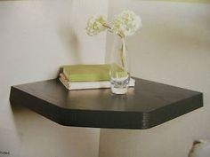 Capri Floating Corner Shelves Shelf White Gloss Oak Effect Black Wood Effect NEW