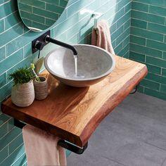 Rustic Bathroom Designs, Bathroom Design Luxury, Modern Bathroom Design, Wood Bathroom, Bathroom Furniture, Small Bathroom, Wood Sink, Bathrooms, Lave Main Design