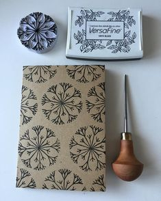 Hmmmm, dandelion? Firework explosion? Snowflake? Agapanthus bloom? Who knows? What I do know is that is was very fiddly and took longer than it should have and distracted me for too long from my mandala... #littlerowanredhead #linocut #eraserstamp #stamp #handmadestamp #addicted #handcarved #handprinted #blockprinted #handmadecard #rubberstamp