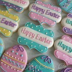 Looking for the Best Easter Cookies Ideas? Here are the best Easter Sugar Cookies decoration with royal icing ideas, you'd love to try out now. Fancy Cookies, Holiday Cookies, Cupcake Cookies, Cupcakes, Easter Biscuits, Iced Sugar Cookies, Easter Cookies, Happy Easter, Cookie Decorating