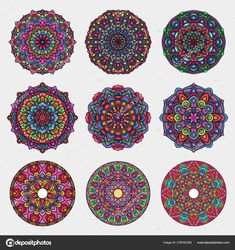 Mandala Art, Flower Mandala, Mandala Pattern, Free Vector Graphics, Vector Art, Diwali, Color Explosion, Hologram Colors, Chakra