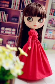 1 : 6 Scale Blythe Full Length Dresses   Doll Apparel   Doll Fashion   Doll Dress   Blythe Outfit You should know dolly are easy to get stained. Please do some protection if you wear something in dark