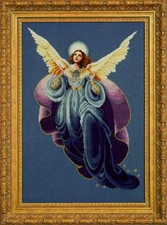Angel of the Morning - L&L 53 - Copyright © 2001 Marilyn Leavitt-Imblum; released in October 2001; has a detailed over-one face and is not suitable for stitching on Aida