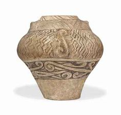 A Cucutene Pottery Jar Neolithic period, Danube Valley, circa, 4000 BC.